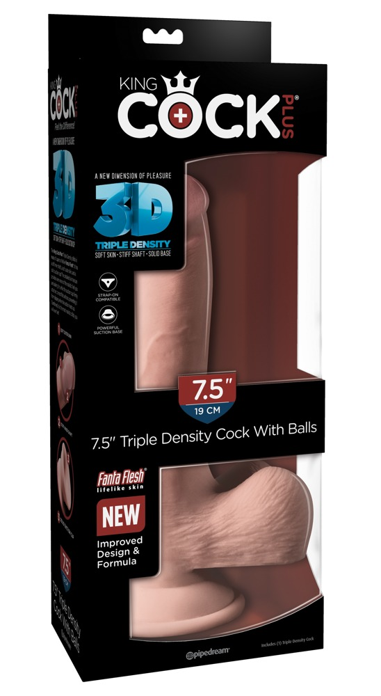 "7,5"" Triple Density Cock with balls"