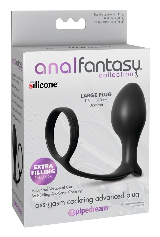 Ass-Gasm Cock Ring Advanced Plug