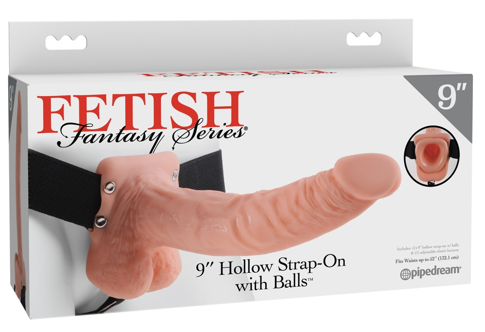 """9"""" Hollow Strap-on with Balls"""