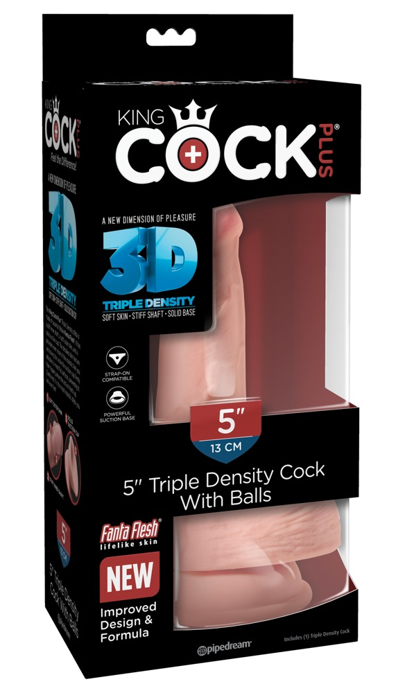 "5"" Triple Density Cock with Balls"